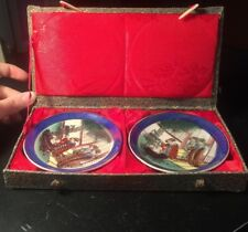 2 Tiny Chinese Plates In A Box