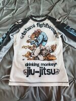 Tatami Fightwear Ladies Drinker Monkey Long Sleeve BJJ Rashguard - White/Black
