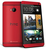 "Unlocked  HTC One M7 32GB 4MP Quad-core GSM WIFI Android OS 4.7 "" Móviles -Rojo"