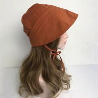 aa4c98db Lady Sunbonnet Pioneer Prairie Bonnet Sunhat Hat Fisher Cap Victorian Retro  Cute