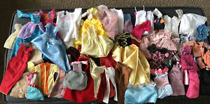 Mixed Lot of Vintage And Modern Barbie Clothes In Need Of TLC Over 40 PCs