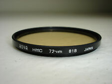 Hoya HMC 72mm 81B Filter Japan
