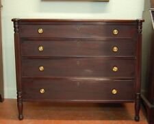 Classic American Sheraton 4 drawer chest with very old or original finish c 1810