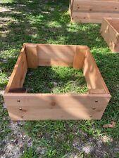 raised garden bed-cedar planter-cedar raised garden bed-handmade garden bed