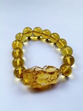 Fashion Feng Shui Citrine Yellow Pi Yao Pi Xiu Bracelet Bead for Wealth Luck