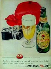 Carling's Red Cap Ale Beer Bottle Cap Camera ~1949~ Ad