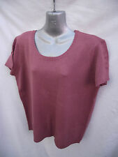 BNWT Ladies Sz 22-24 Undercoverwear Dusty Pink Soft Stretch Knit Top RRP $48