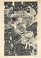 THE DOORS - JIM MORRISON - RARE 1967 QUALITY CONCERT POSTER - LOOKS GREAT FRAMED
