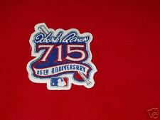 Hank Aarons 25Th Anniversary Patch For 715 Home Runs