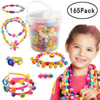165pcs Pop Beads Set - Girl Toy DIY Jewelry Making Kit for Necklace  Bracelet