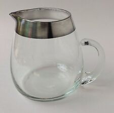 Dorothy Thorpe Silver Band Glass 40 Ounce Pitcher Mid Century Modern