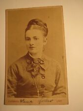 Linz - 1878-Anna Huller? HALLER? as a young woman with Braid-Portrait/CDV