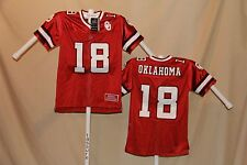 OKLAHOMA SOONERS  Colosseum  sewn #18  FOOTBALL JERSEY  Youth XL   NWT  r  $50