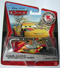 Disney Cars Silver Metallic  MIGUEL CAMINO  Kmart Rare Over 100 Cars Listed !!