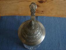 antiker Bierkrug, Glaskrug mit Zinndeckel, um 1900, 0,5 Liter, 24cm