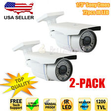 "1200Tvl 1/3"" Cmos 2.8-12mm Varifocal Ir Outdoor Cctv Security Camera-2 pack"