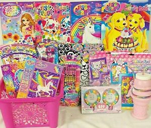 NEW GIRLS LISA FRANK EASTER TOY GIFT BASKET BIRTHDAY TOYS ANY OCCASION PLAY SET