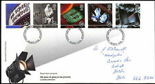 GB FDC 1996 100 Years Of Going To The Pictures, Stevenage FDI  #C39461