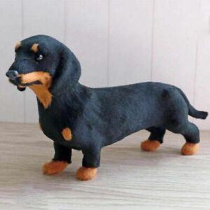 Realistic Pet Puppy Dachshund Simulation Toy Animals Stuffed Toy Dog Model