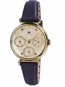 Radley Ladies Day and Date Multi Dial Purple Leather Strap Watch RY2244 RNP