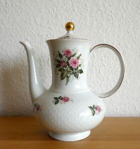 Porzellan Kaffeekanne Rosendekor Seltmann Weiden Annabell Top-Zustand
