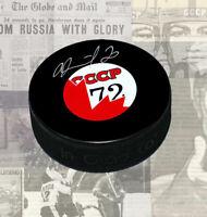 Vladislav Tretiak 1972 Summit Series Autographed Puck