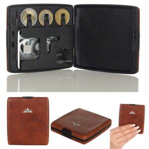 Tru Virtu RFID Geldbörse MONEY und CARDS Natural Brown Leather NEU OVP Wallet