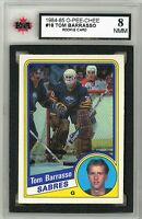 1984-85 OPC Hockey #18 Tom Barrasso RC Graded 8.0 NMM (*062319-51)