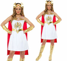 She Ra Costume Masters of Universe Ladies Superhero He Man Fancy Dress UK 8-18