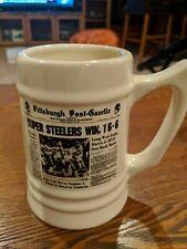 1974 SUPER STEELERS WIN  PITTSBURGH STEELERS Ceramic Porcelain Mug Super Bowl