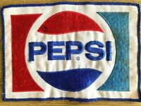 """1970s PEPSI COLA vintage sew-on patch SODA POP - huge size: 6"""" x 8.5"""" INCHES"""