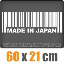 Made in Japan  chf0325 weiß 60 x 21 cm Heckscheibenaufkleber Scheibe Auto Car