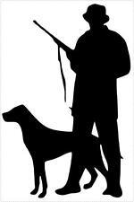Sticker decal vinyl car bike laptop macbook bumber hunter dog hunting black