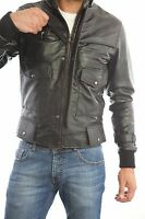 ★Giacca Giubbotto Uomo in di PELLE 100%★ Men Leather Jacket Veste Homme Cuir 15b