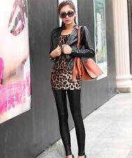New Fashion PU Leather Legging Stretch Skinny Leggings Casual Pants