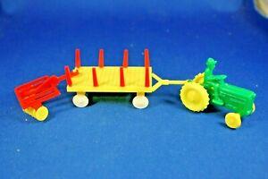 O/S - Plasticville - #1302 Farm Implement - Tractor - Wagon - Farrow