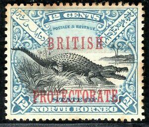 NORTH BORNEO QV Stamp SG.135 12c CROCODILE (1901) Mint MM Cat £70- BBLUE93
