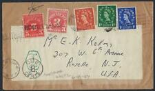 Uk Gb 1955 Us Norfolk To Roselle New Jersey Postage Due In Uk & Us Marking 8cent