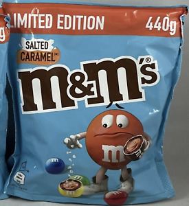 M&M's Salted Caramel New XL Bag 440g Pouch UK Stock Limited Edition