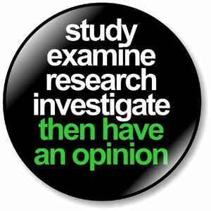 1 x Study Truth 32mm BUTTON PIN BADGE Protest Research Investigate Conspiracy