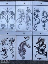 6 X Dragon Temporary Tattoos Body Arm Tattoo Sticker Half Sleeve Fake Waterproof