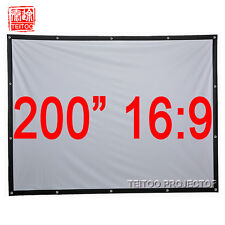 "200"" 16:9 Large Size Canvas Fabric Portable Fast Fold Outsides Projector Screens"