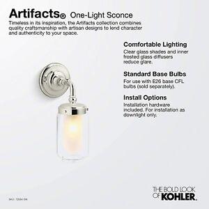 Kohler Artifacts K-72584-SN Artifacts Wall Sconce Vibrant Polished Nickel $419