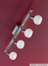 Deckenleuchte Deckenlampe Spot Gelenk Strahler EGLO ANCORA 4 Halogen nickel weiß