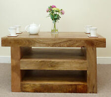 Solid Wood No Assembly Required 60cm-80cm Coffee Tables