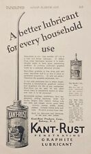 1926 AD(F21)~KANT-RUST PRODUCTS CO. RAHWAY, NJ. GRAPHITE LUBRICANT