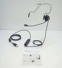 Computer Monaural Neckband C435 USB UC Headset with Mute & Volume Control TESTED