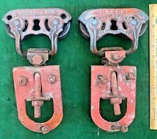 Antique Cast Iron Myers Sure Grip Barn Door Rollers Farm Pulley Trolley Hardware