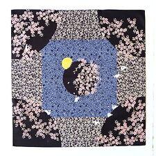 Full Moon & Rabbits Black Japanese Cotton Furoshiki Wrapping Cloth TB101