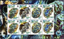 Niue 2002 WWF/Giant Clams/Marine Animals/Nature/Conservation 8v m/s (s2592)